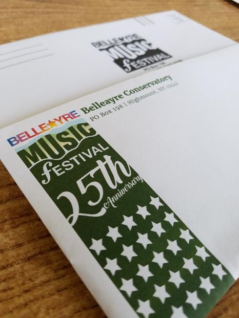 Belleayre Music Festival Envelopes