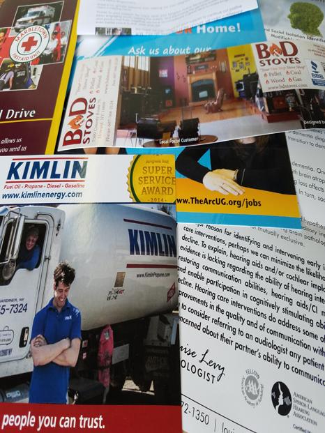 Portfolio of mail design examples