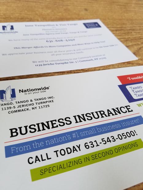 Tango Insurance mailable rack card