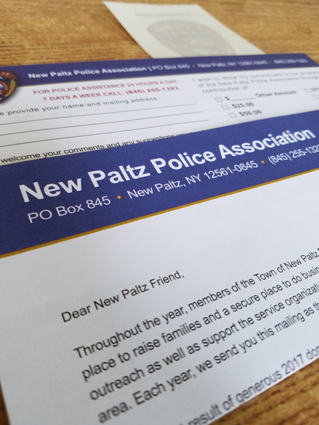 New Paltz PBA appeal mailing