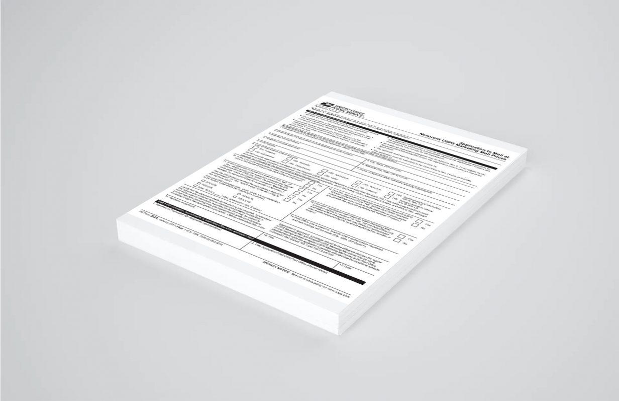USPS PS Form 3624 Mockup